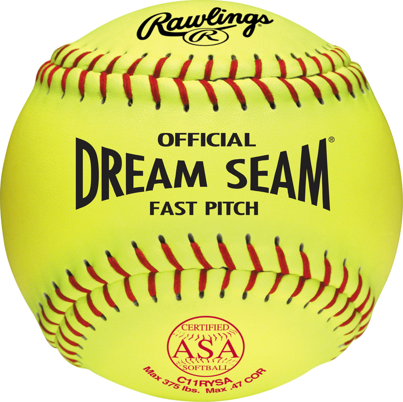 "Rawlings 11"" ASA Pro Tac Dream Seam Fastpitch Softball (DZ) by Rawlings"