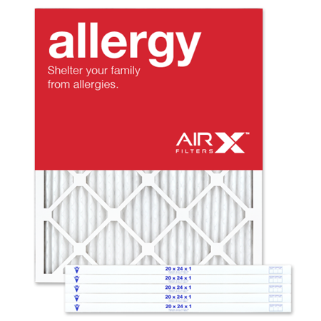 AIRx Filters Allergy 20x24x1 Air Filter Replacement MERV 11 AC Furnace Pleated Filter,
