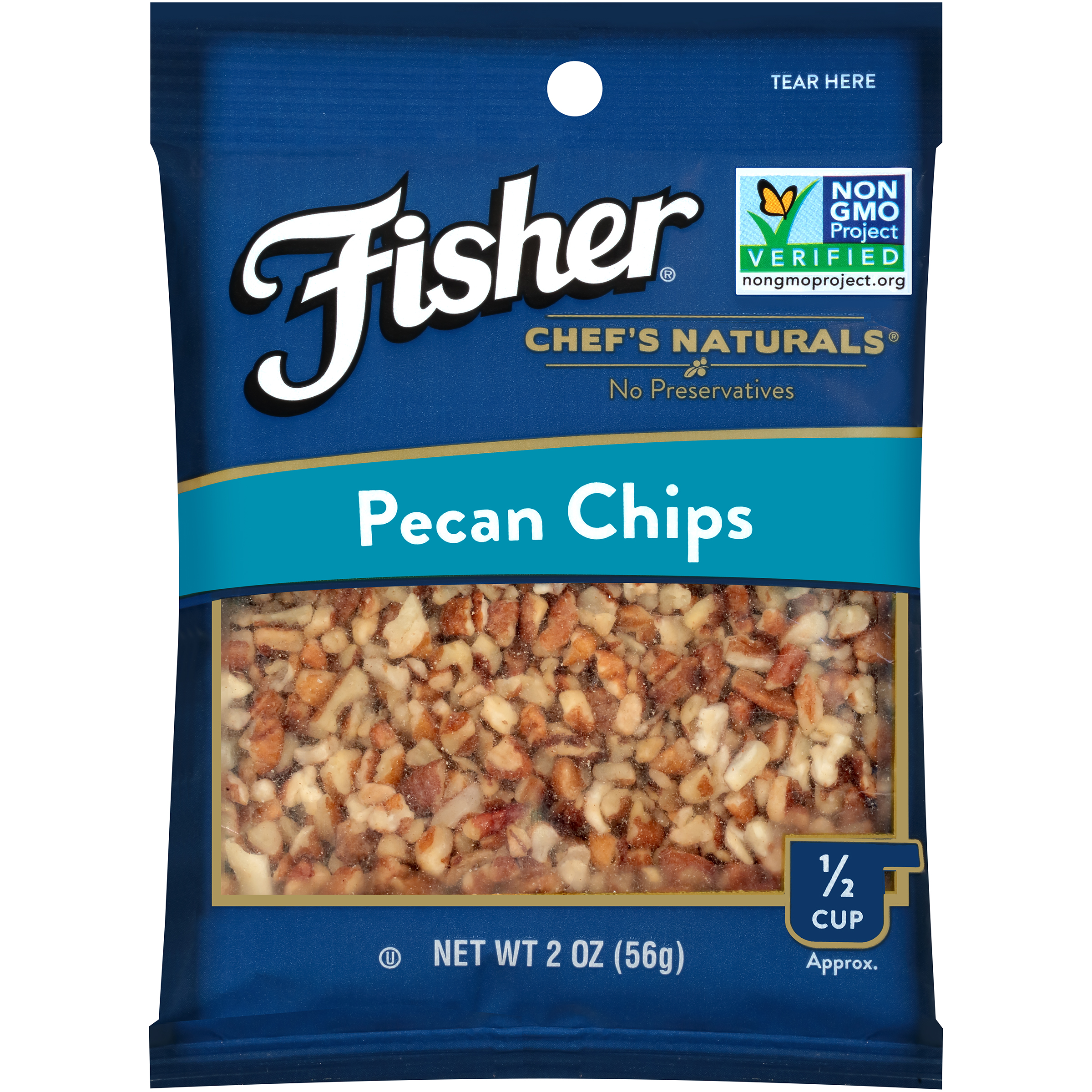 Fisher Chef's Naturals Pecan Chips, 2 oz by John B. Sanfilippo & Son, Inc.