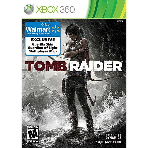 Tomb Raider (Xbox 360) w/ Wal-Mart Bonus Exclusives Guardian of Light Game, Guerilla