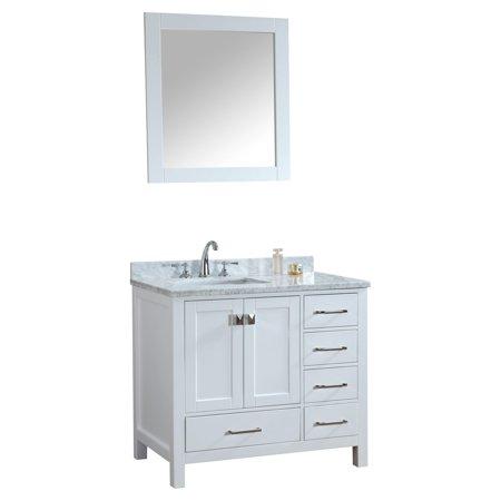 Ari Kitchen And Bath Bella 36 In Single Bathroom Vanity Set With Mirror