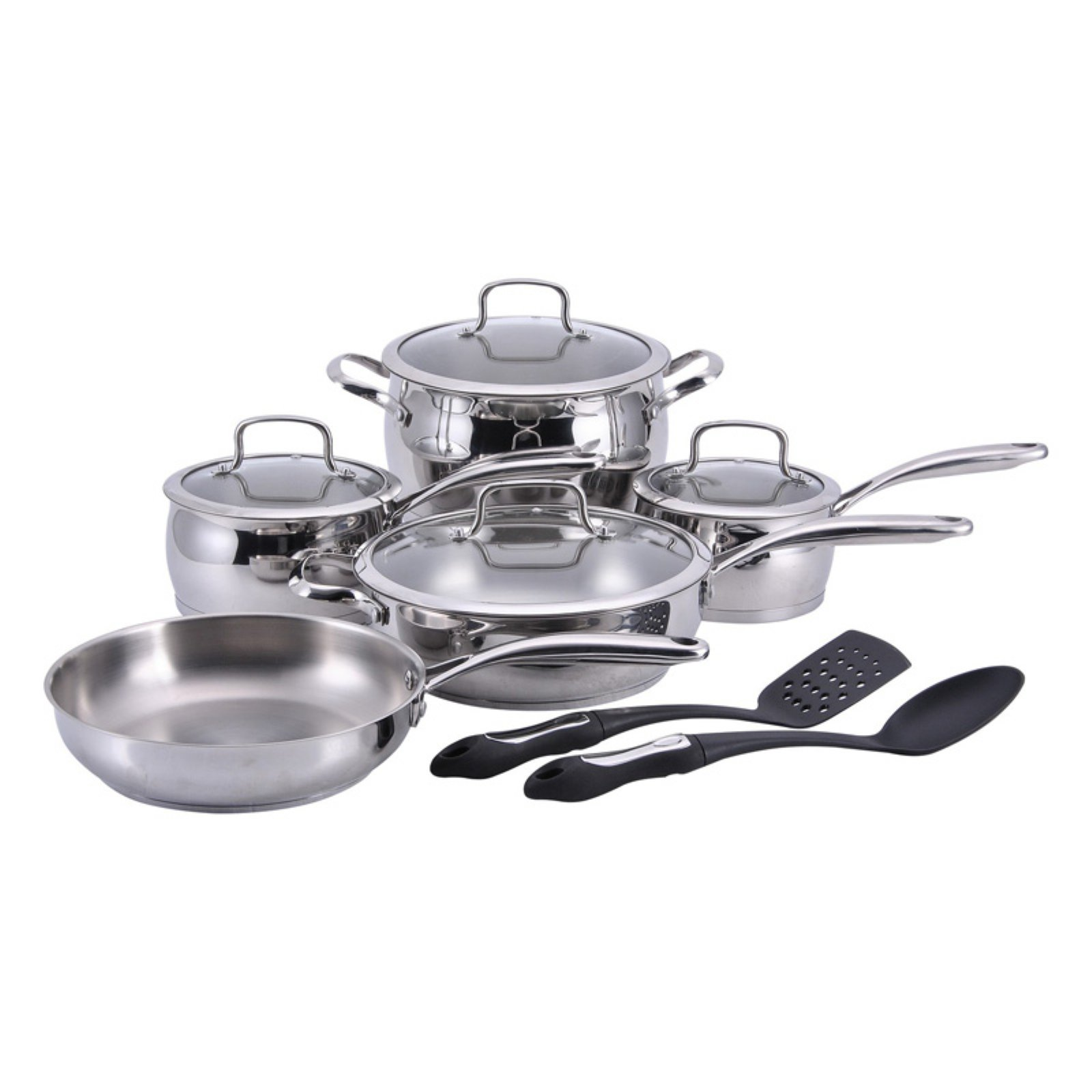 Hamilton Beach  11-Piece Stainless Steel Cookware Set