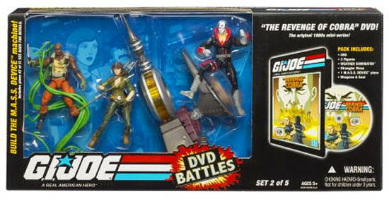 GI Joe DVD Battles Revenge of Cobra Action Figure Set by Hasbro, Inc.