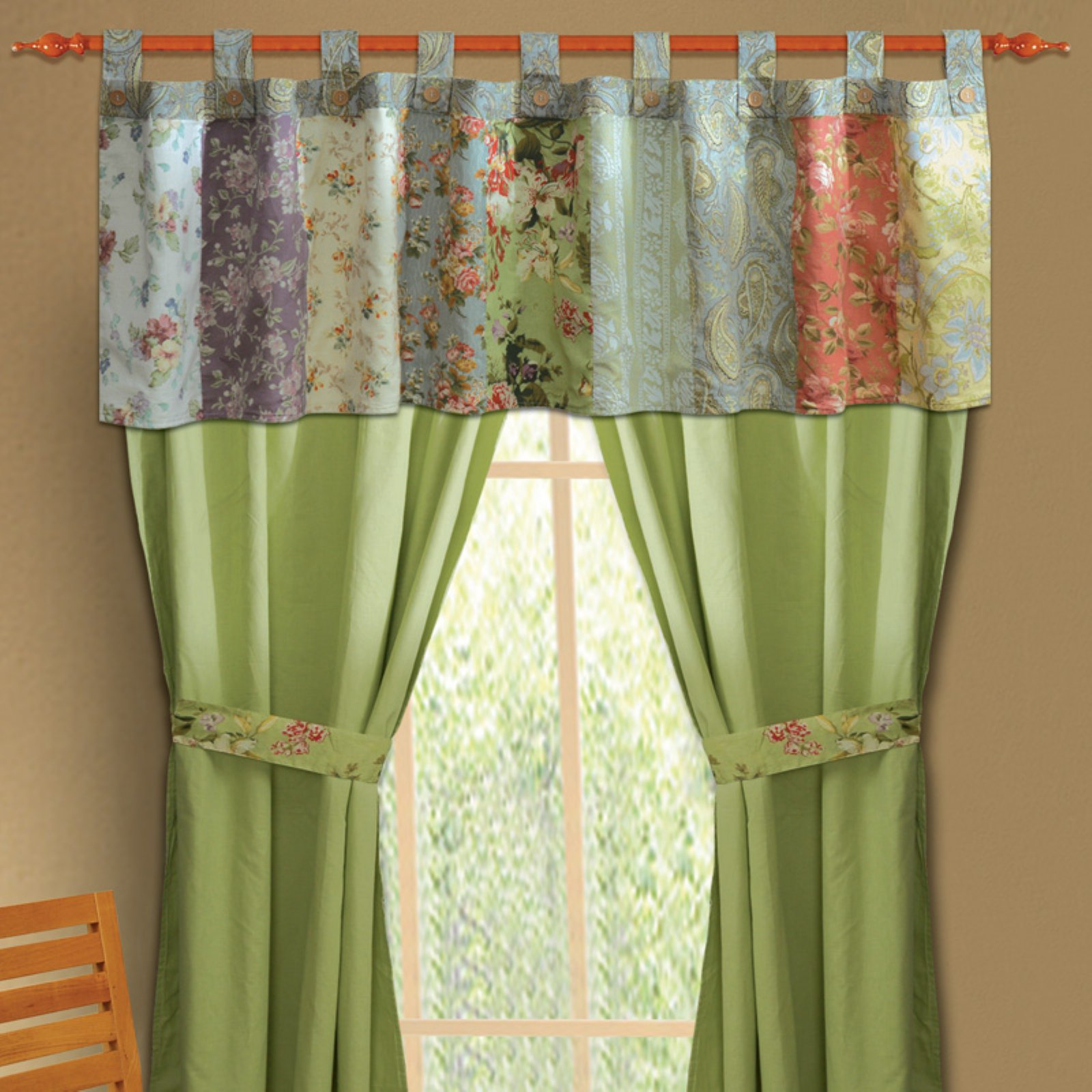 Greenland Home Fashions Blooming Prairie - Valance