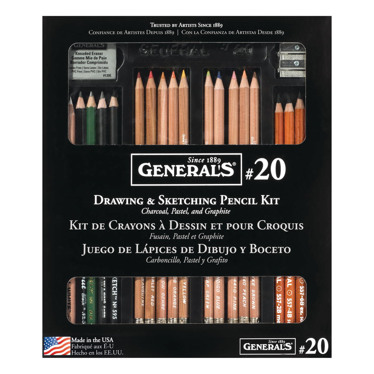 General Pencil Drawing & Sketching Pencil Kit No. 20