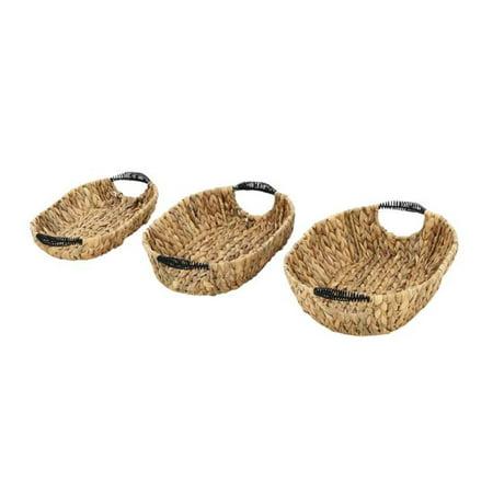 Hyacinth Pack - Studio 350  Outstanding Hyacinth Metal Baskets (Pack of 3)