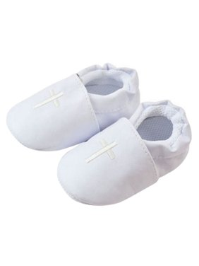 Baby Boy Girl Cross Baptism Shoes Soft Sole Modest Christening Church Sneaker