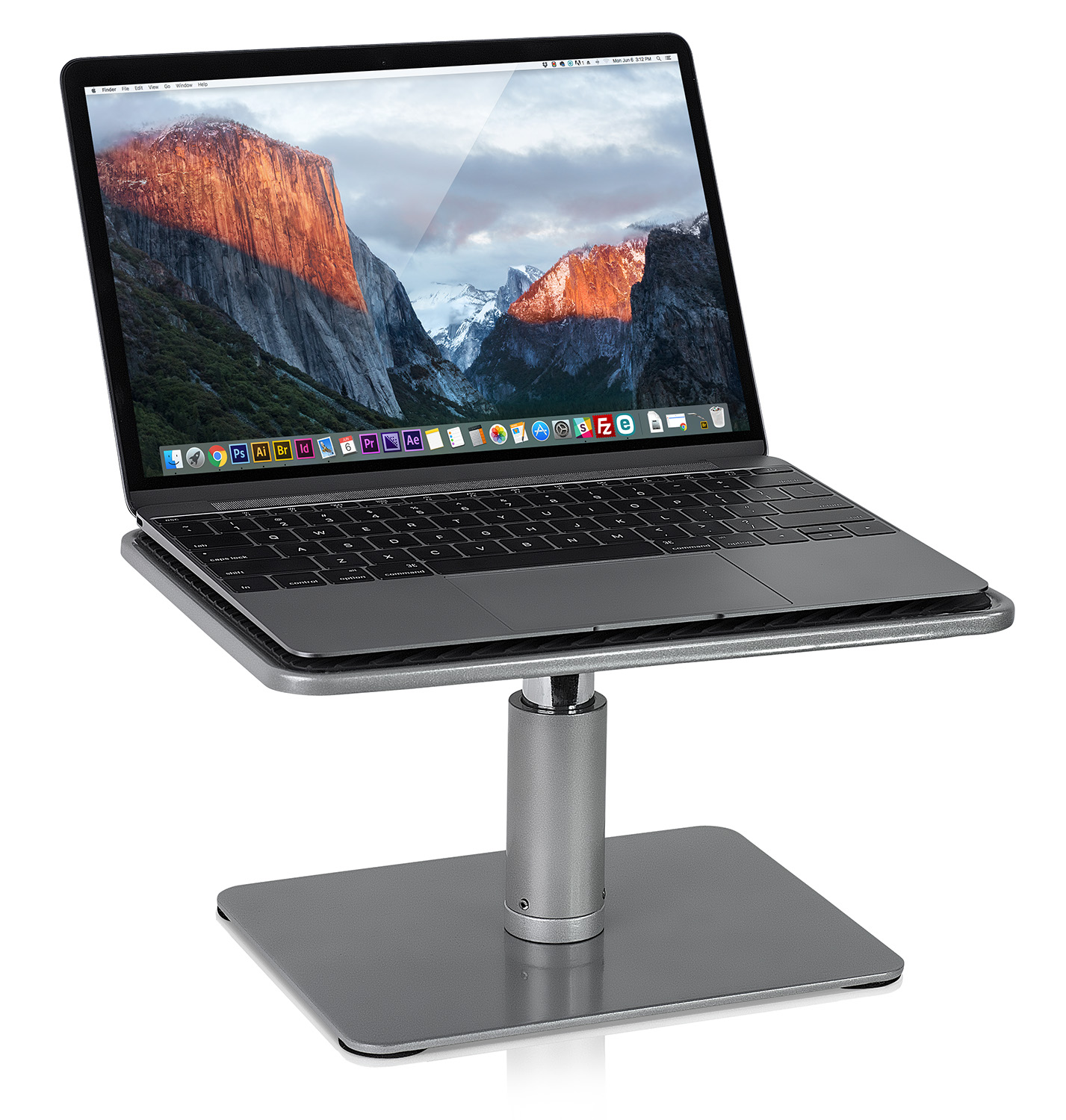 Mount-It! Laptop Stand for MacBook and PC, Monitor Desk Riser, Fits Up to 11 to 15 Inch Computers (MI-7272)