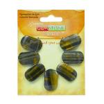 Expo Int'l Tiger Eye Half Moon Beads Pack of 7 (Half Moon Eyes Milky Jelly Toning Essence)