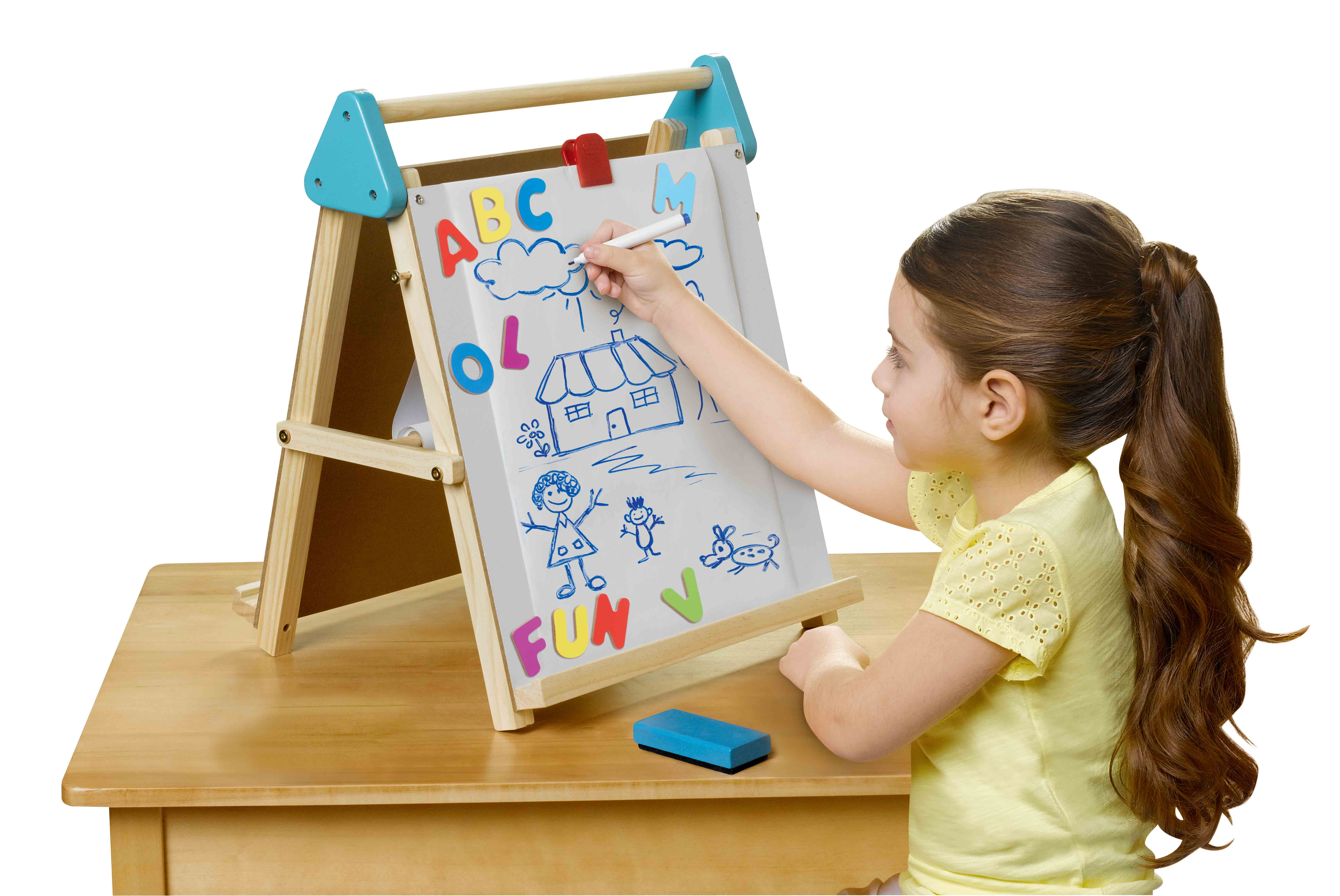 Kid Connection Wooden Tabletop Easel
