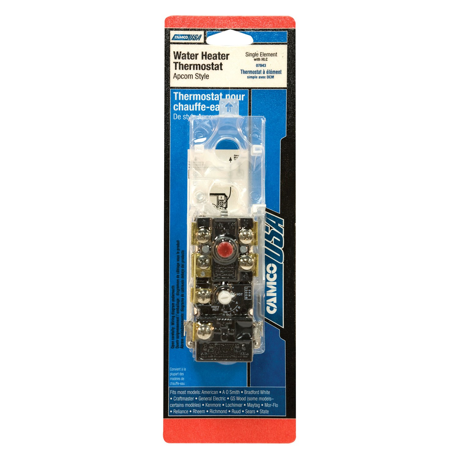 Camco 07843 Apcom Style Black Single Water Heater Thermostat With Hlc Walmart Com Walmart Com
