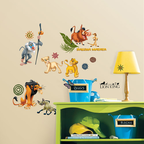 RoomMates The Lion King Peel & Stick Wall Decals