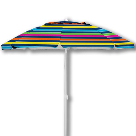 7 Caribbean Joe Beach Umbrella Double Canopy Windproof Design With Uv Protection