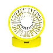 Clearance! Fresh Lemon Cooling Fan Foldable Desk Table Fan Rechargeable Cooling Fan yellow