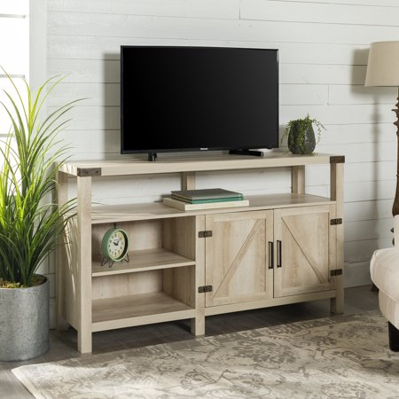 Modern Farmhouse White Oak TV Stand for TVs up to 64