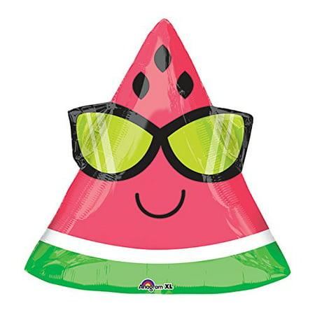 Burton & Burton Pkg Fun in the Sun Watermelon Foil Balloon, 18