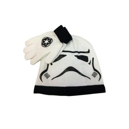 Kids Stormtrooper Big Face Knit Beanie & Gloves - Stormtrooper Gloves