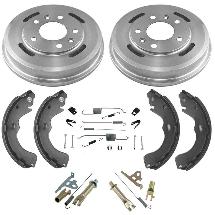 Mac Auto Parts 155513 Brand New Rear Brake Drums /& Rear Brake Shoes /& Hardaware Kit For 05-15 Smart Car Fortwo