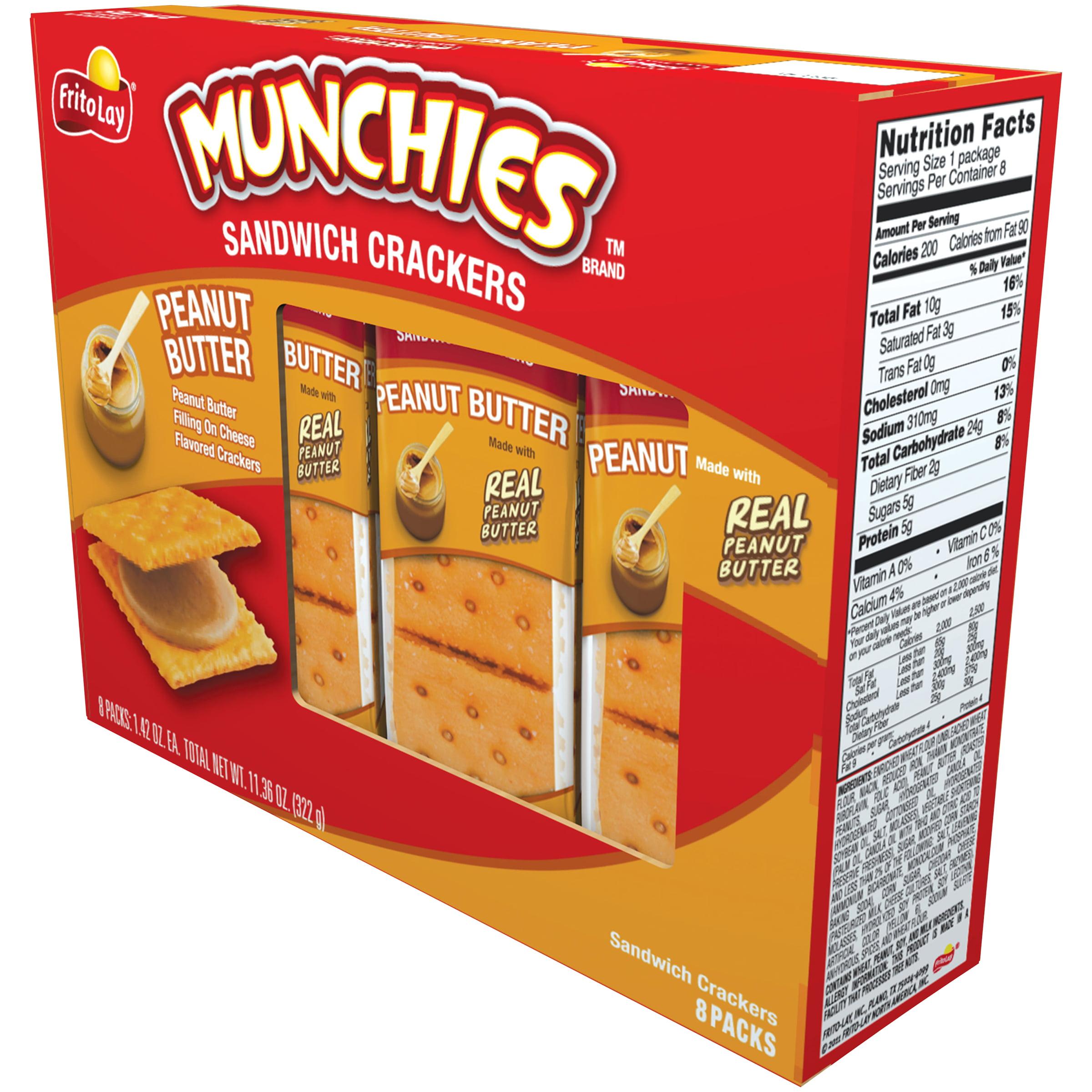 Munchies Peanut Butter Sandwich Crackers, 1.42 Oz., 8