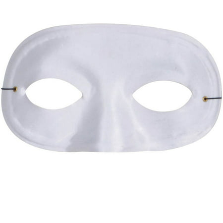 White Half Domino Mask Adult Halloween Accessory](Betty White Halloween Mask)