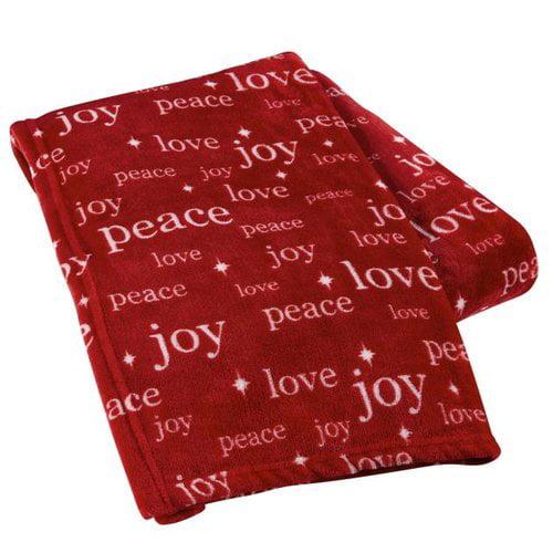 The Holiday Aisle Peace Love Joy Throw