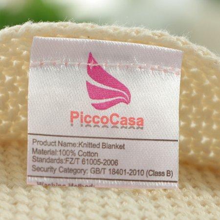 """knit blanket full size beige 70"""" x 78"""" - image 4 de 8"""