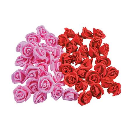 FOAM VALENTINE ROSE BUDS (50PC) - Craft Supplies - 50 Pieces Valentine Foam Crafts