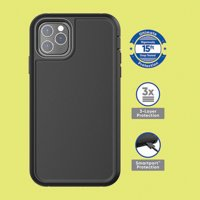 onn. Rugged Case with Built-In Antimicrobial for iPhone SE (2020) 11 Pro Max, 11 Pro, 11, XS Max, XS, XR, X, 8 Plus, 8, 7 Plus, 7, 6 Plus, 6, 6s Plus, 6s - Black, Navy Blue