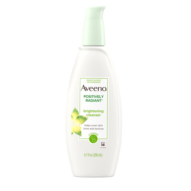 Aveeno Positively Radiant Liquid Facial Cleanser, All Skin Types, Hypoallergenic, 6.7 fl oz