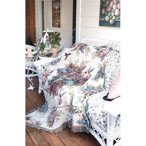 Manual Woodworkers & Weavers Whisper Wings Verse Tapestry Cotton Throw
