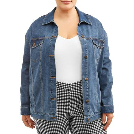 Terra & Sky Women's Plus Size Denim Jacket