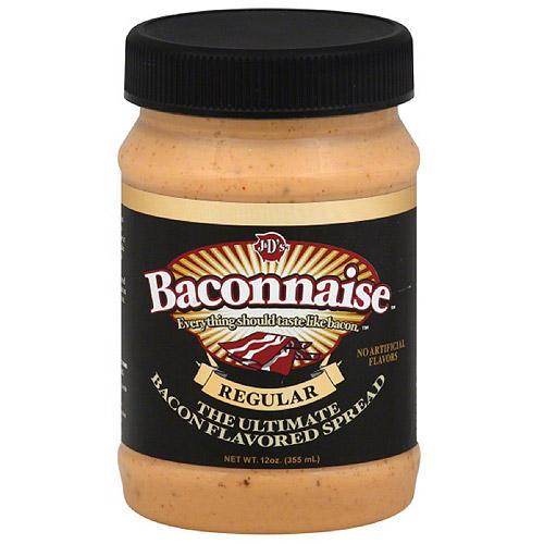 J&D'S Baconnaise Bacon Flavored Sandwich Spread, 15 fl oz, (Pack of 6)