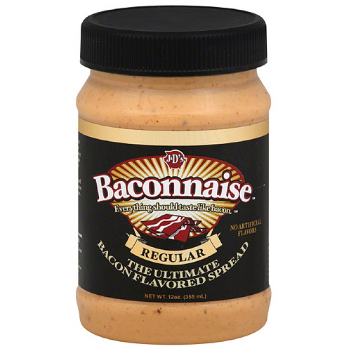 J&D'S Baconnaise Bacon Flavored Sandwich Spread, 15 fl oz, (Pack of 6)