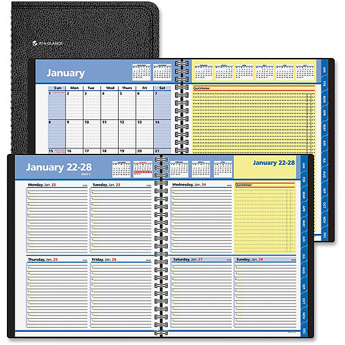 At-A-Glance QuickNotes Weekly/Monthly Hourly Appointment Books