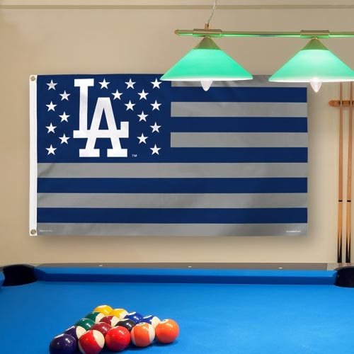 Los Angeles Dodgers WinCraft Deluxe Stars & Stripes 3' x 5' Flag - No Size