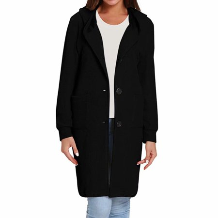 Noroomaknet Womens Hoodies Casual Cardigan Sweaters for Women, Women Winter Coat Jacket with Pockets Women's Long Sleeve Knitted Hooded Long Coat Cardigan Classic Coat Jacket (Leather Jacket With Knit Sleeves And Hood)