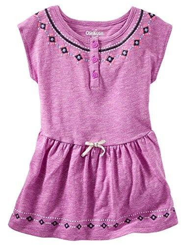 OshKosh B'gosh Little Girls' TLC Puff-Print Tunic Blouse Purple (4 Kids)