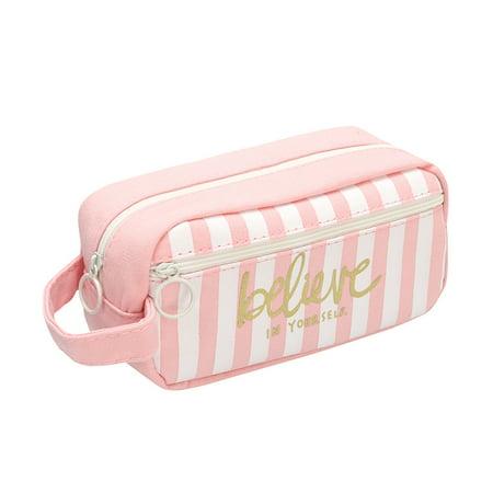 71a2c96a452c iLH Mallroom Cartoon Printed Zipper Pencil Case Pen Bag Travel Toiletry  Storage Case Makeup Pouch Cosmetic Organizer