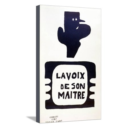 Halloween Advertising Campaigns ('La Voix De Son Maitre', Advertising Campaign Against General Charles De Gaulle, May 1968 Stretched Canvas Print Wall)