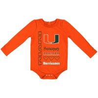 Miami Hurricanes Colosseum Girls Newborn & Infant It's Still Good Long Sleeve Bodysuit - Orange