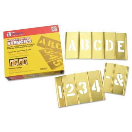 C.H. Hanson Brass Stencil Letter & Number Sets, Brass, 2