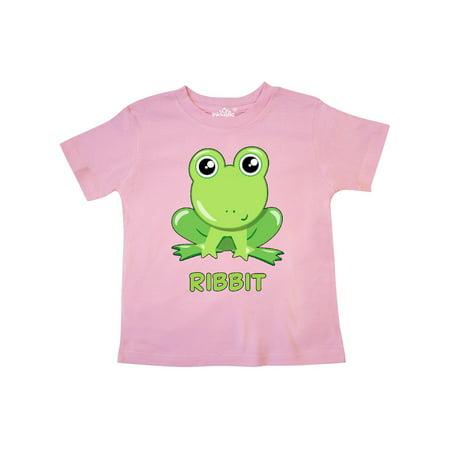 Ribbit Cute Green Frog Toddler (Toddler Frog)