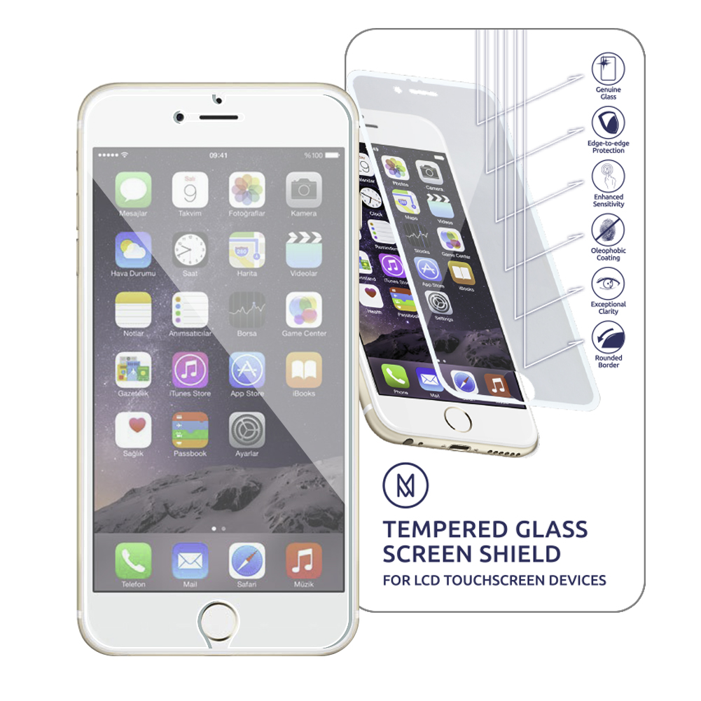 MiniGuard Tempered Glass Screen Protector (2 Pack) for iPhone 7/8 ...