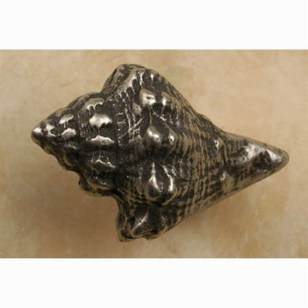 Conch shell sm knob Set of 10 Pewter with Cherry