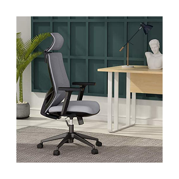 Tribesigns Ergonomic Office Chair Mesh Chair High Back Desk Chair With Lumbar Support Breathable Mesh Thick Seat Cushion Adjustable Armrest Backrest And Headrest Walmart Com Walmart Com