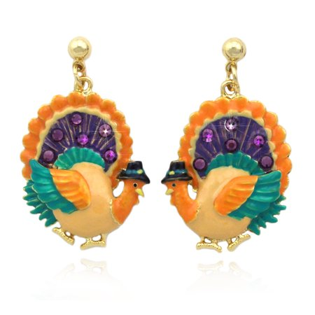cocojewelry Turkey  Dangle Earrings Thanksgiving Halloween - Halloween Earrings Ideas
