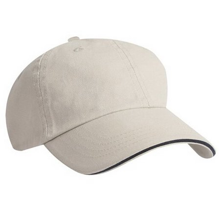 KC Caps Sports Unisex Plain Golf Flex Sandwich Baseball Cap Fitted Cotton Visor Bill Hat Khaki