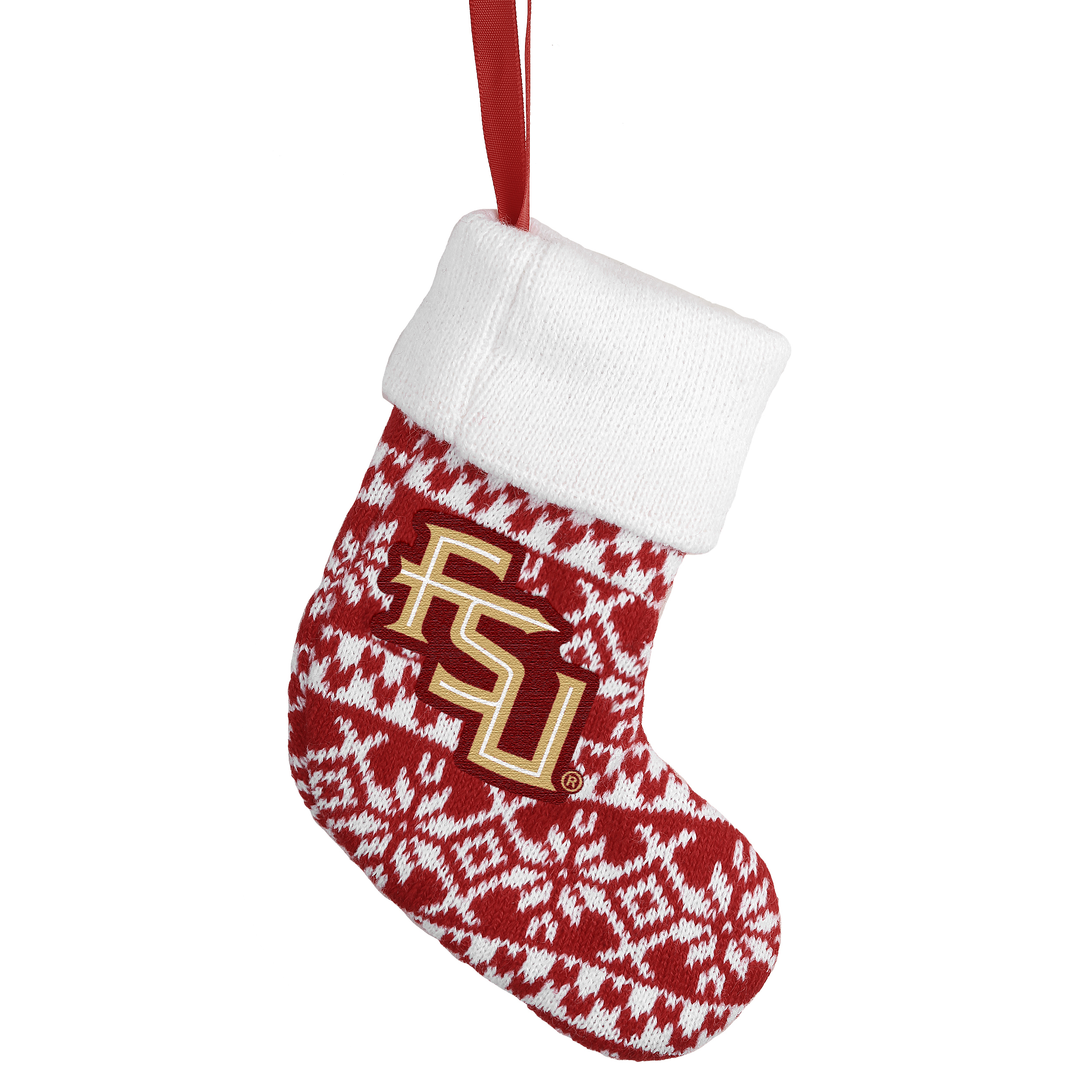 Florida State Seminoles Official NCAA Holiday Knit Stocking Christmas Ornament Gift Card Holder by Forever Collectibles 491946