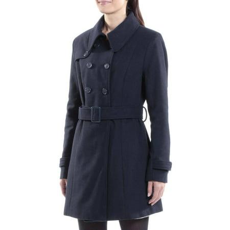 Women Wool Blazer - Alpine Swiss Keira Womens Trench Coat Double Breasted Wool Jacket Belted Blazer