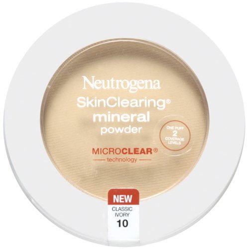 Neutrogena Skinclearing Mineral Powder, Classic Ivory 10, 0.38 oz